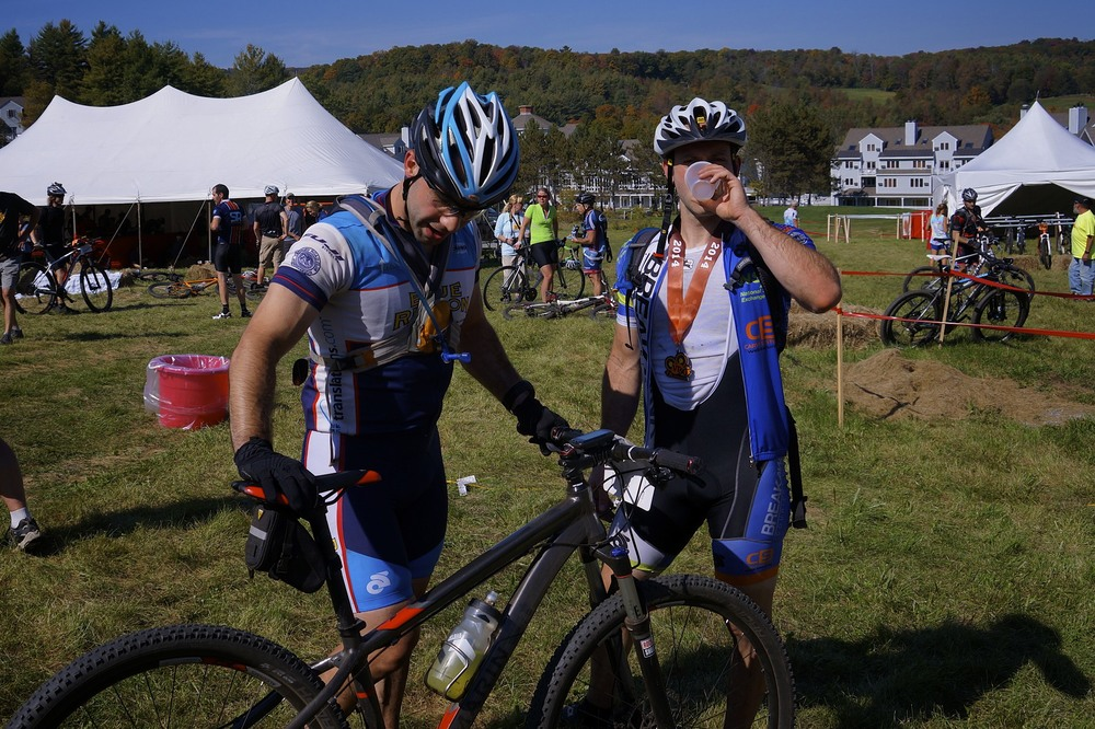 Evan & Joe at the finish