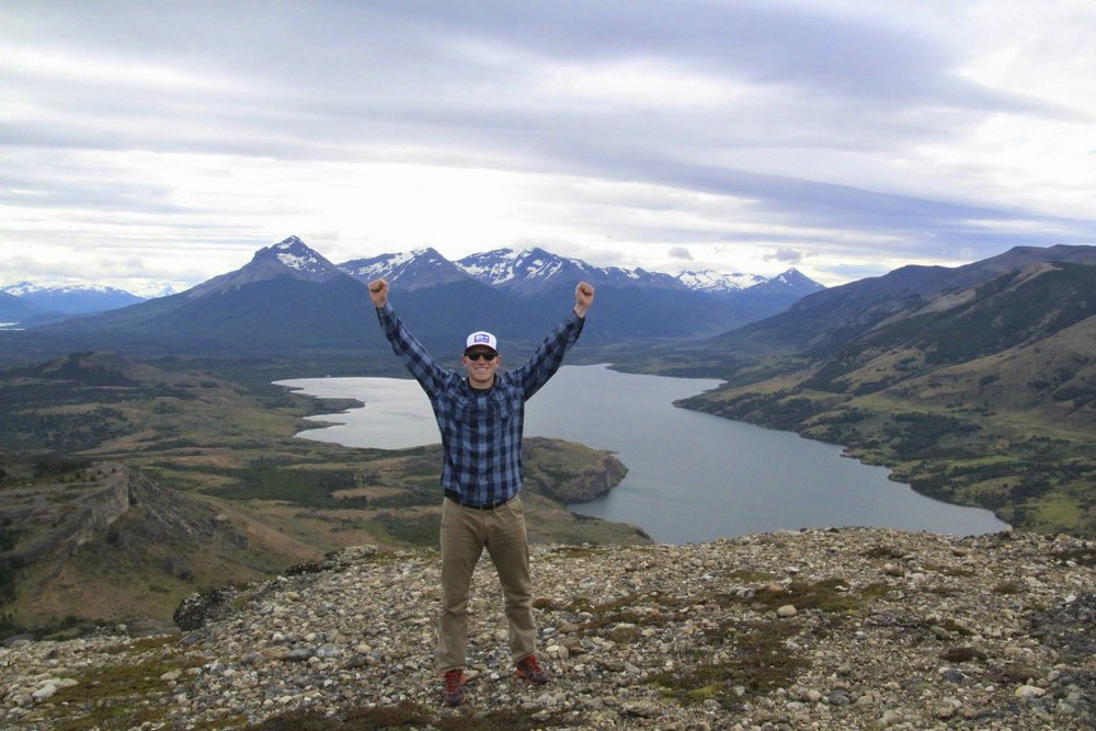 """Sometime recently I adopted the """"double arm raise"""" for awesome landscape pictures. I guess it works right?! These pictures are during the hike near the hotel. Not yet to the park!"""