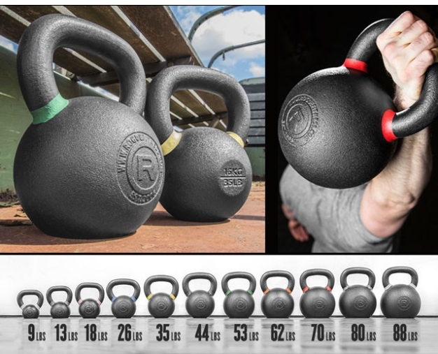 Rogue Kettlebells - These are great kettlebells that will last you a lifetime. They are made in America and are the best value out there. Rogue uses a proprietary casting process so each bell is a solid piece, creating a stronger, more reliable handle, with a clean finish making it better on your hands. To learn more about Kettlebells and for workouts, click here.