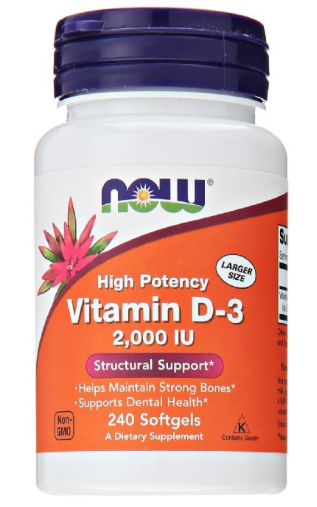 Vitamin D3  - Vitamin D is normally obtained from the diet or produced by the skin from the ultraviolet energy of the sun.  However, it is not abundant in food.  As more people avoid sun exposure or spend most of their times indoors, Vitamin D supplementation becomes even more necessary to ensure that your body receives an adequate supply for overall wellness.