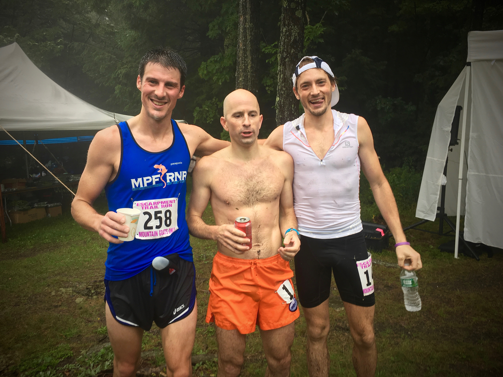 Jan, Ben & Matthias, the top 3 from the 2016 Escarpment Trail Run!