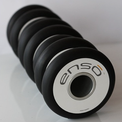 EvoFit Enso Roller - Completely customizable, the ensō roller provides you with both deep-tissue and low-impact massage.. Through the incorporation of adjustable discs, users have the ability to massage an entire area, pinpoint problem spots, and avoid putting pressure on areas that don't require it. Uses The eight independent discs feature customizable positioning—with the ability to be removed altogether—so the roller can conform and support to meet the demands of any body types or needs. Buy $80
