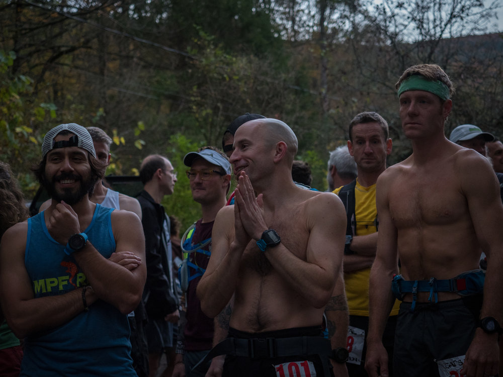 Awaiting the start with Aaron already on my heels – Photo: Joe Azze | MPF