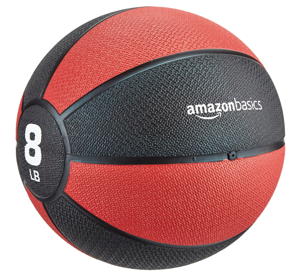 Amazon Medicine Balls - Medicine balls are a great addition to your in-home gym and come in many varieties. MB's are an awesome way to train any area of your body while integrating the core (abdominal complex, hips, glutes, low back and along the spine) in a functional manner. Their grip is good and will hold up over time and you can add air to them to increase their bounce.