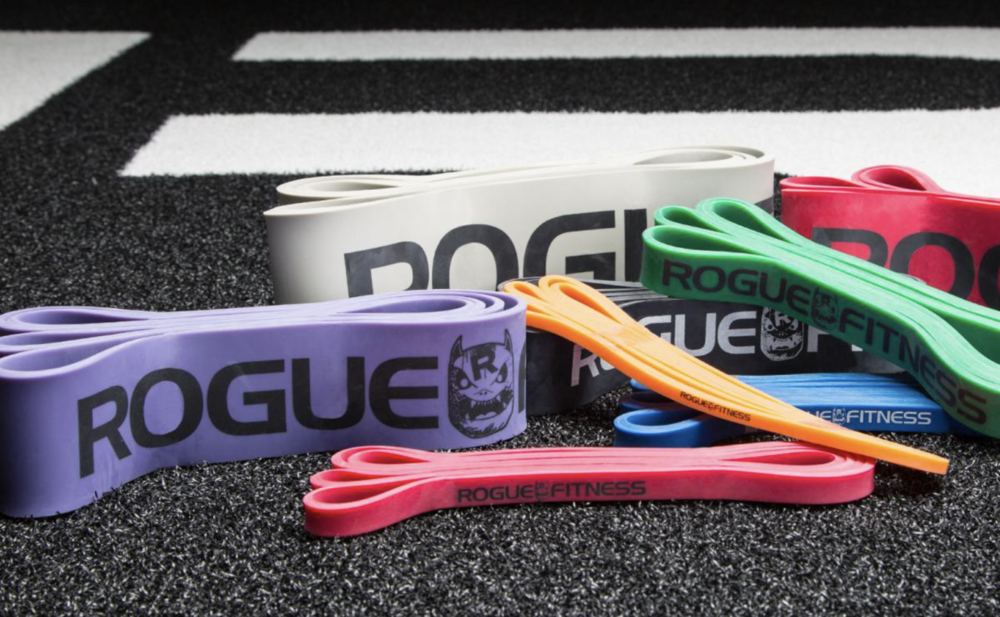 "Rogue Monster Bands  - Available to order individually, in pairs, or as part of a full set, Rogue Monster Bands are the versatile, go-anywhere accessory for customized resistance training—from mobility work and pull-up assistance to banded squats and bench presses. There are (8) color-coded versions of the natural latex rubber stretch bands to choose from, each measuring 41"" in length, but varying in width, thickness, and overall resistance. This makes each band more specialized for certain types of training. Try  Amazon Basics Monster Band  as a lower cost option but still good quality."