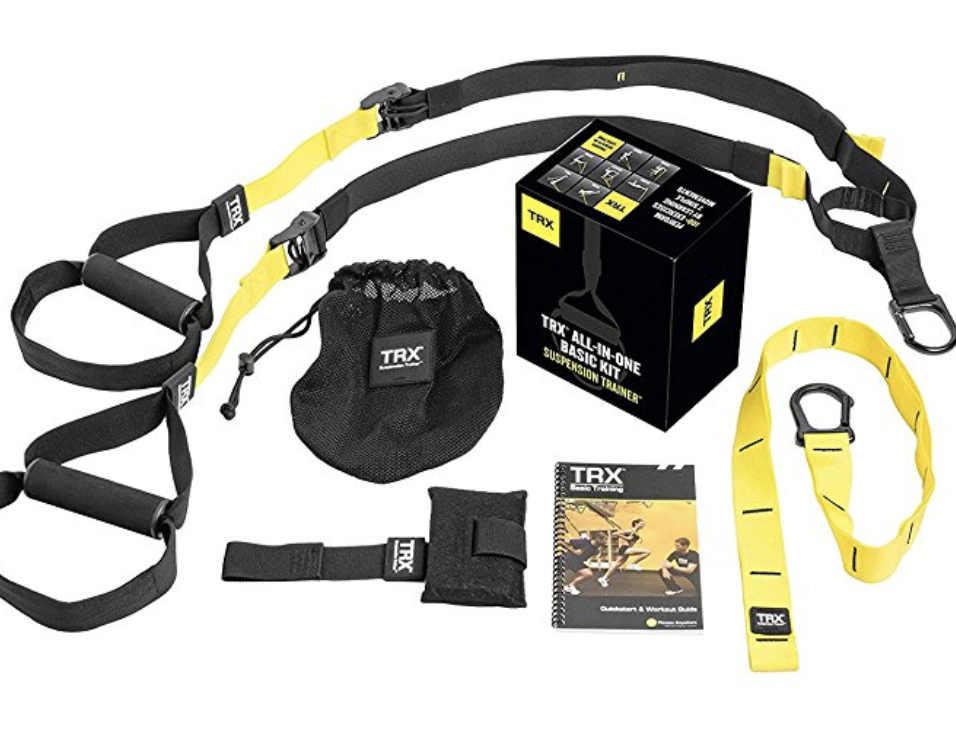 TRX Suspension Trainer - We recommend having a minimum of an 8 foot ceiling so you can hang it from above. To purchase the latest versions, the Home2 and Pro TRX, click here. If your hanging this from the ceiling you will need to purchase the TRX Mount, click here.