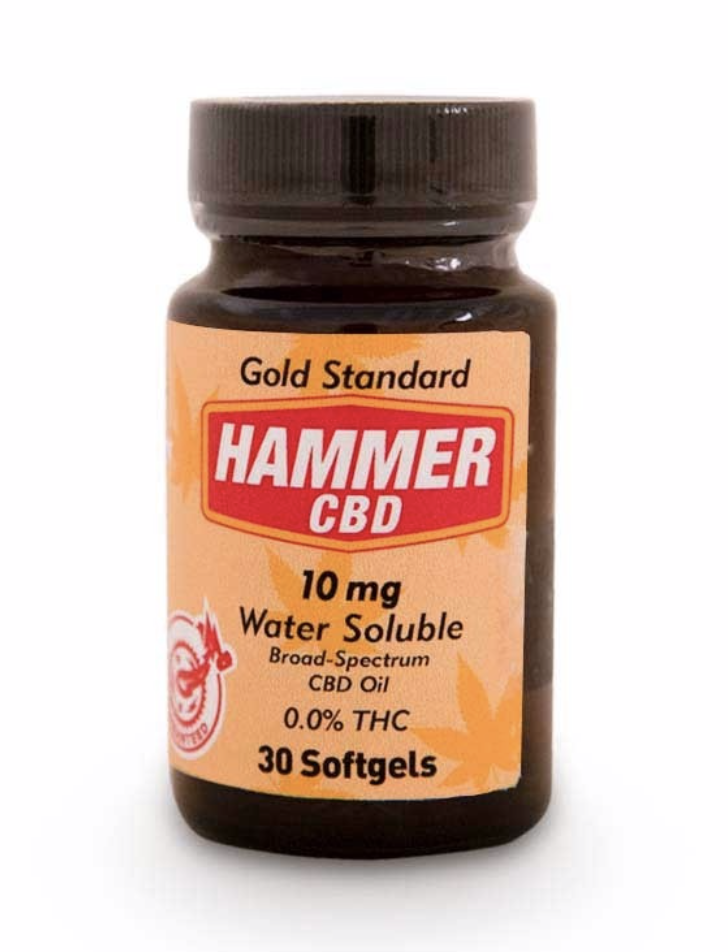 CBD Oil from Hammer Nutrition  - Improves sleep quality. Reduces aches and soreness. Shortens recovery time. 0.0% THC. Of the various features that set Hammer CBD apart, its proprietary nano microemulsion manufacturing process is perhaps the most notable. Simply put, this process breaks the oil into the smallest particulates possible, significantly increasing absorption rates.