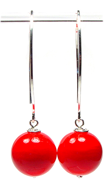 Red Statement Earrings - $55 - JillSymons.com