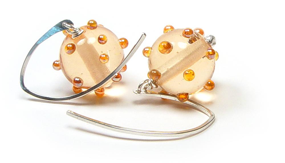 JillSymons.com Lampwork Peachy Aura - $45