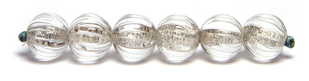 JillSymons.com Lampwork Carved Silver Shimmer - $75