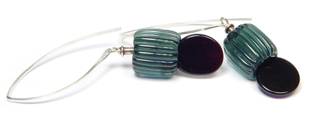 JillSymons.com Lampwork City Sleek Earrings - $50