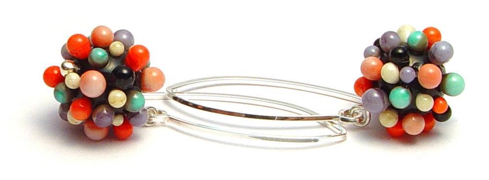 JillSymons.com Lampwork Dotty Earrings - $50