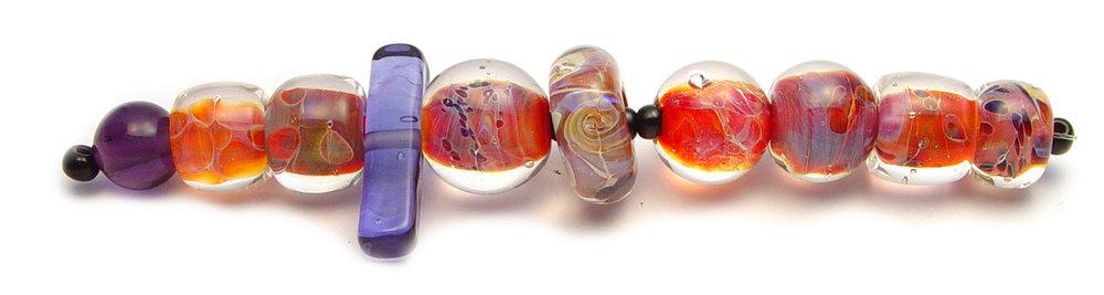 JillSymons.com Lampwork Fiery Swirls - $50