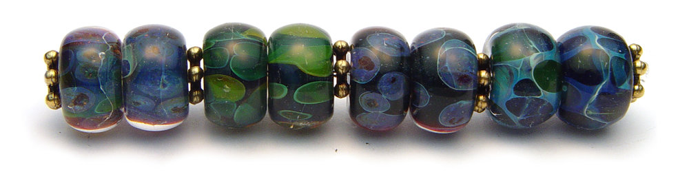 JillSymons.com Lampwork Boro 4x Matching Earring Pair - $65