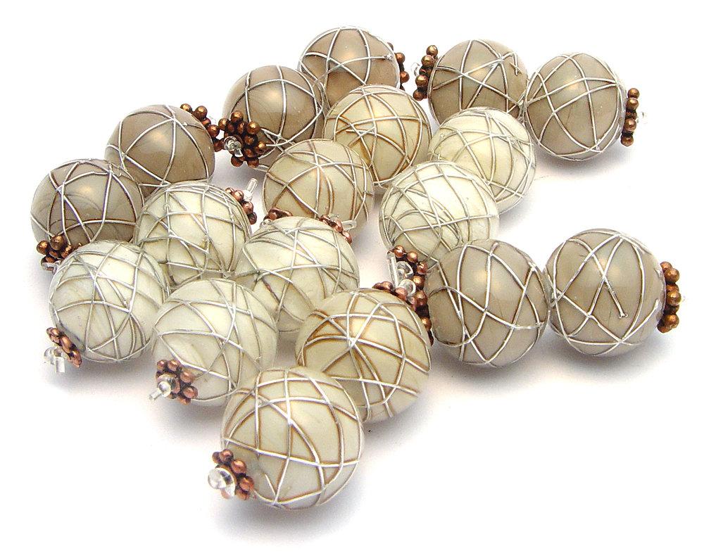 JillSymons.com Lampwork Lovely Neutral Pairs - $35pr