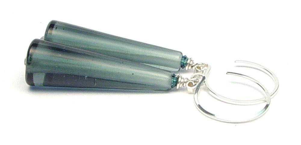JillSymons.com Lampwork Sleek Denim Tapered Cones - $50