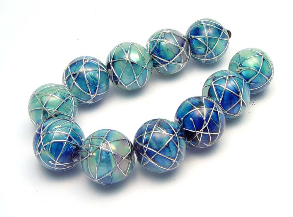 JillSymons.com Lampwork Jetstream Beads - $185