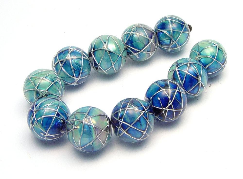 JillSymons.com Lampwork Jetstream Beads - $185