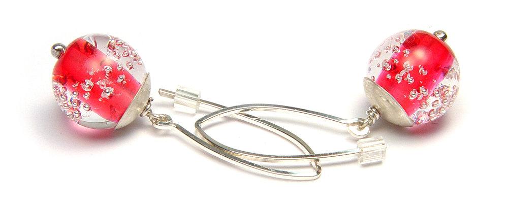 JillSymons.com Lampwork Cheeky Earrings - $50