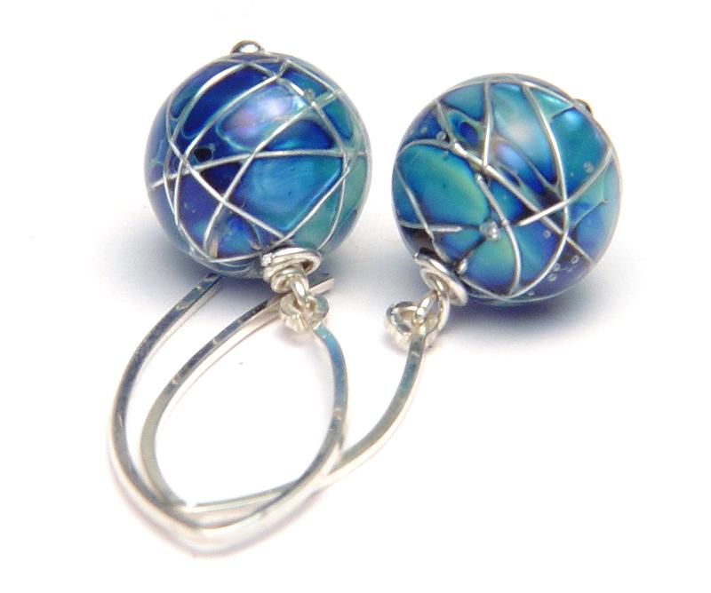 JillSymons.com Lampwork Jetstream Earrings - $50