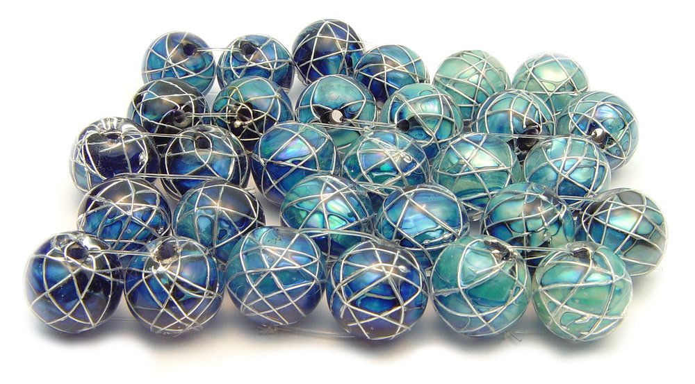 JIllSymons.com Lampwork Jetstream Earring Beads - $35pr
