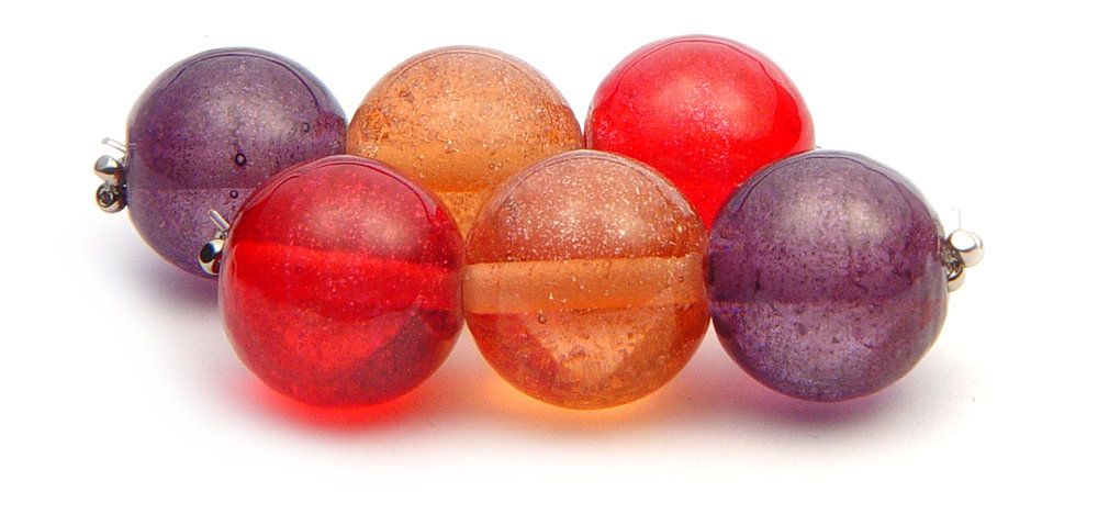 JillSymons.com Lampwork Summer Glitterballs(3) - $45ea