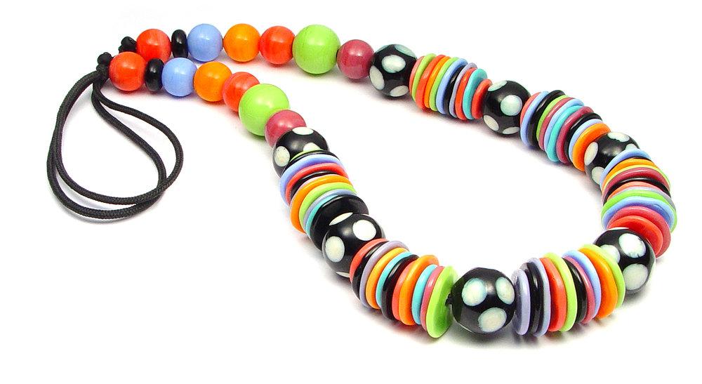 JillSymons.com Lampwork Fiesta Necklace - $110