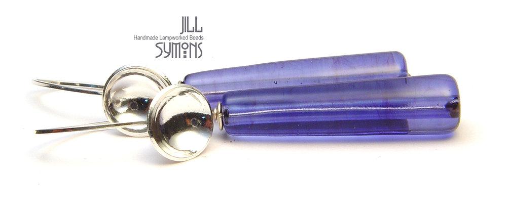 Purple Pillar Earrings - $50
