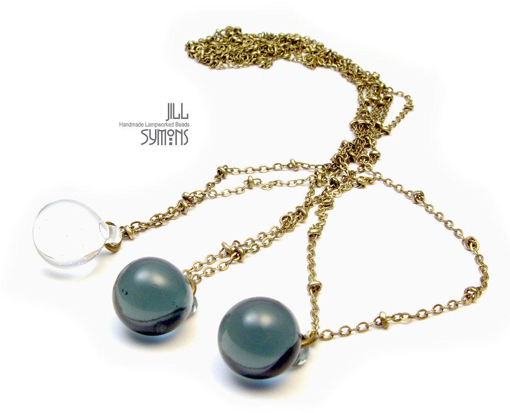 JillSymons.com Lampwork Minimalist Droplet Necklace - $25