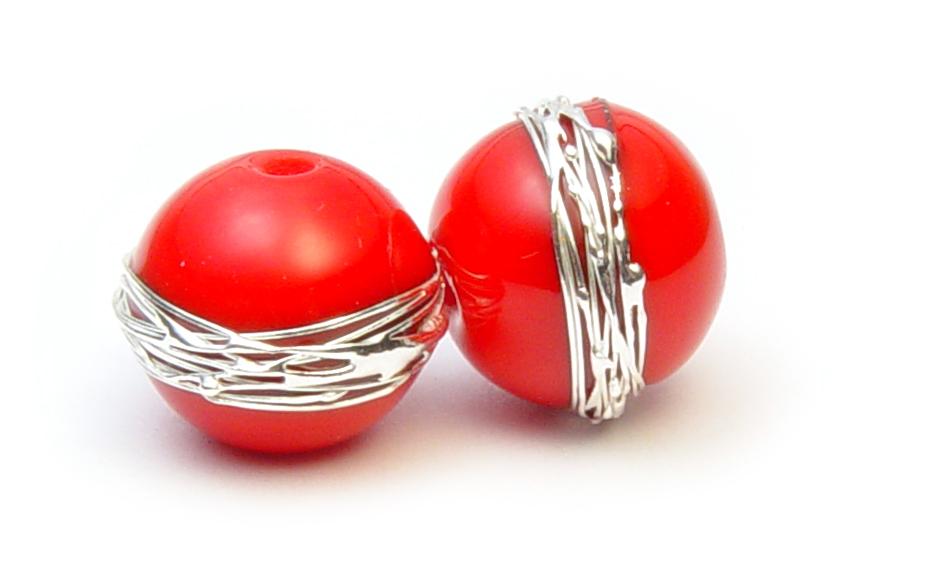 JillSymons.com Lampwork Lipstick Red Pair - $35