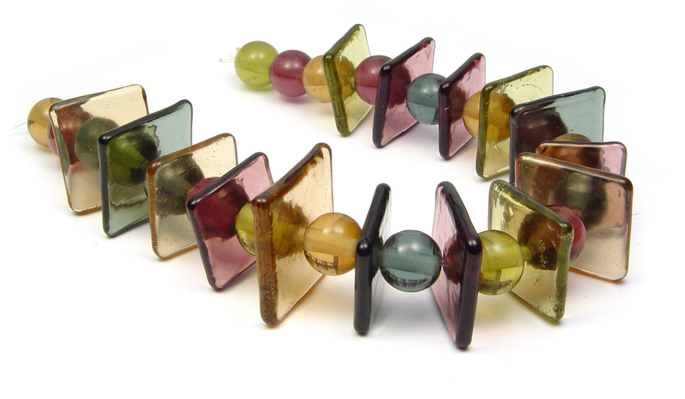Thru The Looking Glass Tiles - $155 JillSymons.com Lampwork