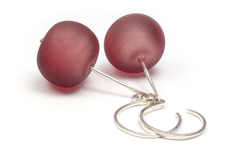 JIllSymons.com Lampwork Velvet Hollow Earrings - $50