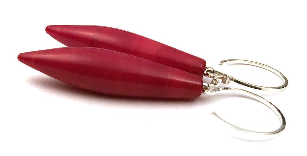 JillSymons.com Lampwork Lipstick Rocket Earrings - $50