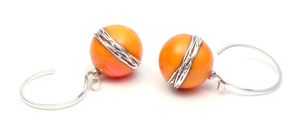 JillSymons.com Lampwork Fresh Melba Earrings - $50