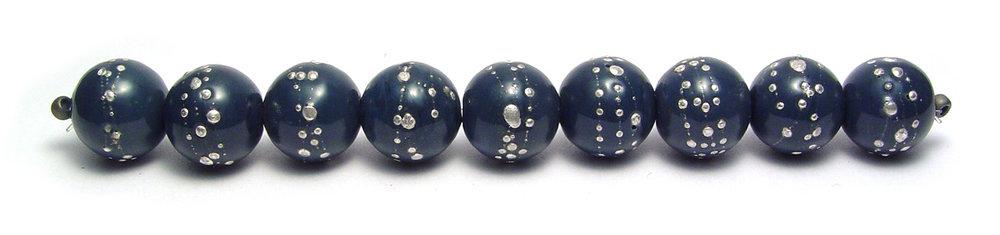 JillSympons.com Lampwork   Steel Blue Nailhead Expansion Set   - $70