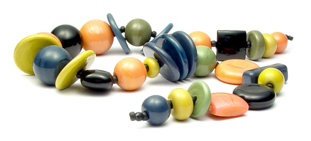 JillSympons.com Lampwork Winter Rose Bead Set - $125