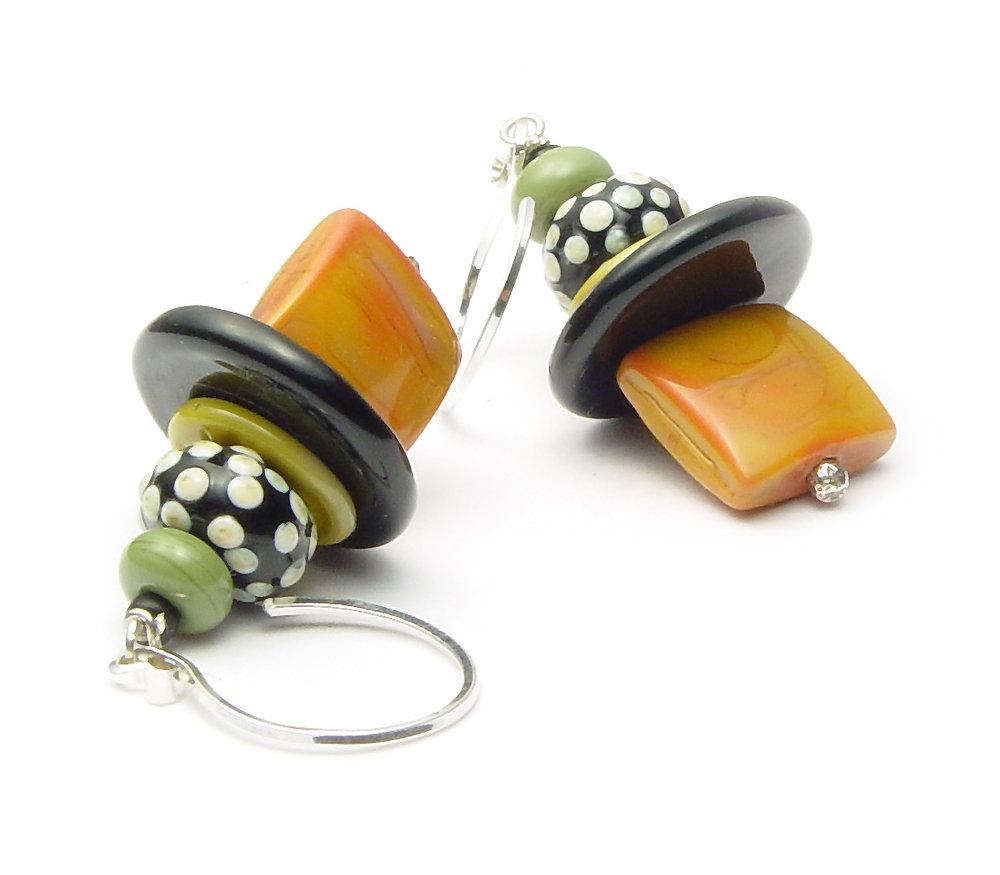 JillSymons.com Lampwork Remember When Earrings - $50