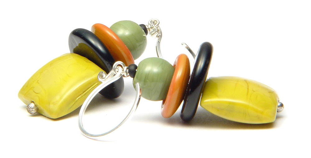 JillSymons.com Lampwork Museum Saturday Earrings - $45