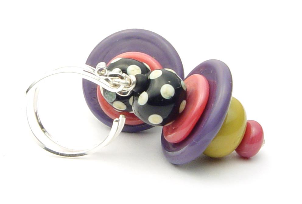 JillSymons.com Lampwork Dilly Dilly Earrings - $50