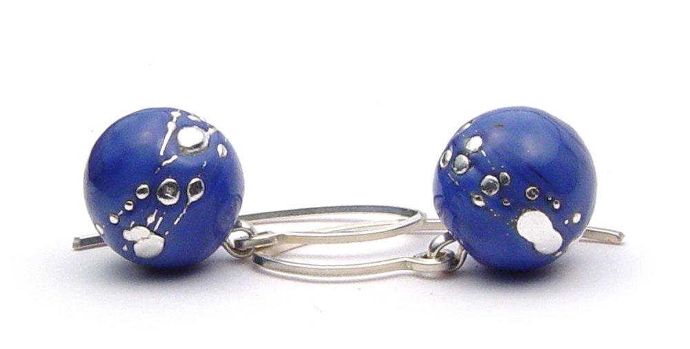 JillSympons.com Lampwork   Skye Nailhead Round Earrings - $50