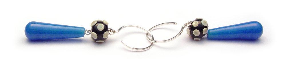 Summertime Earrings - $48 JillSymons.com Lampwork