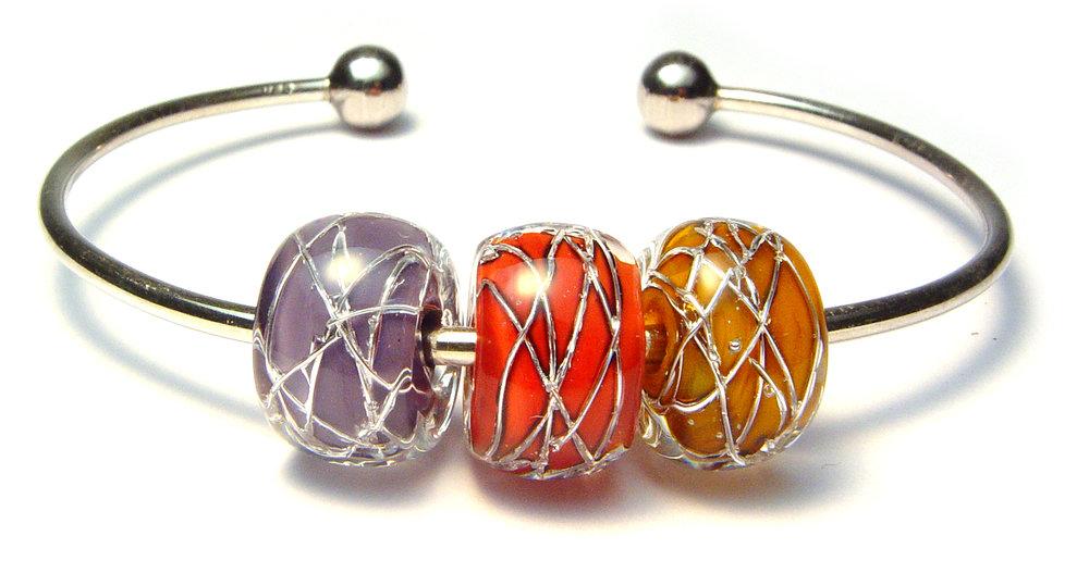 JillSymons.com Lampwork Lampwork Beaded Bracelet #10 - $65