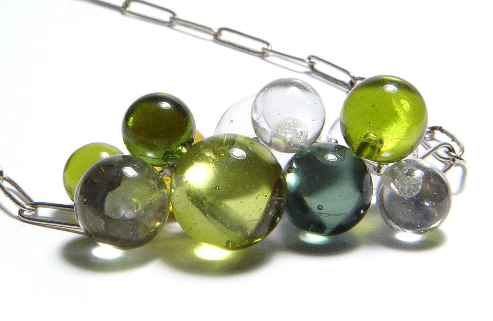 Swingy Cool Color Bubble Necklace - $125 JillSymons.com Lampwork