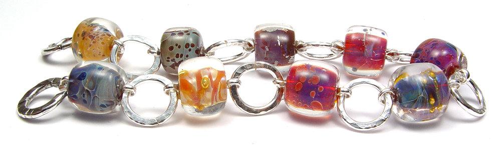 Boro Bracelet #1 - $125 JillSymons.com Lampwork