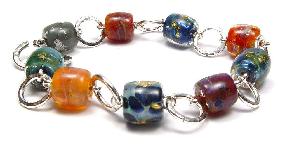 Austin Boro Bracelet - $125  JillSymons.com Lampwork