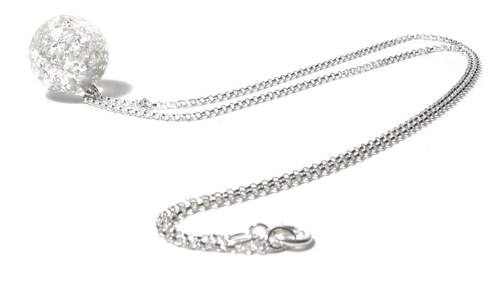 Glitterollo Necklace - $50 JillSymons.com Lampwork