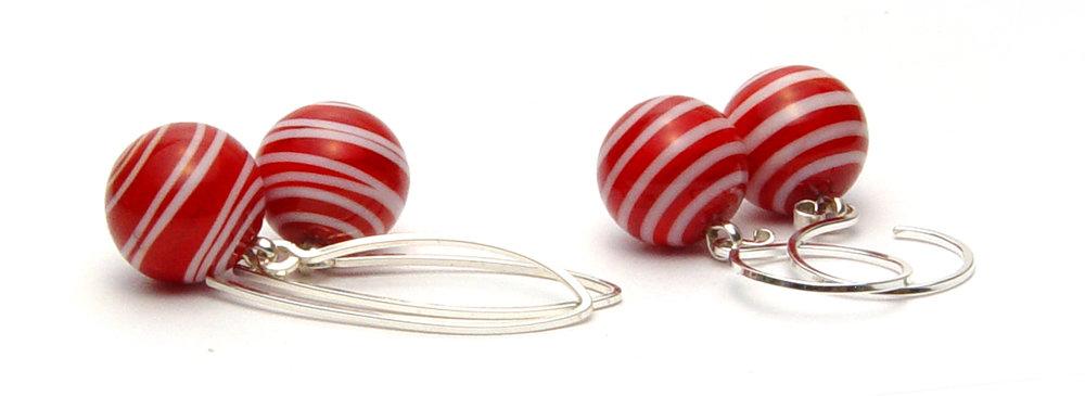 Bigtop Earrings - $45pr   JillSymons.com Lampwork