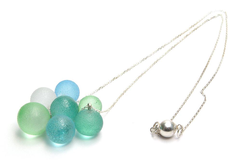 Sugared Bubble Necklace - $65   JillSymons.com Lampwork