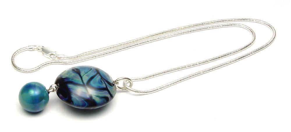 Currents Necklace - $65   JillSymons.com Lampwork