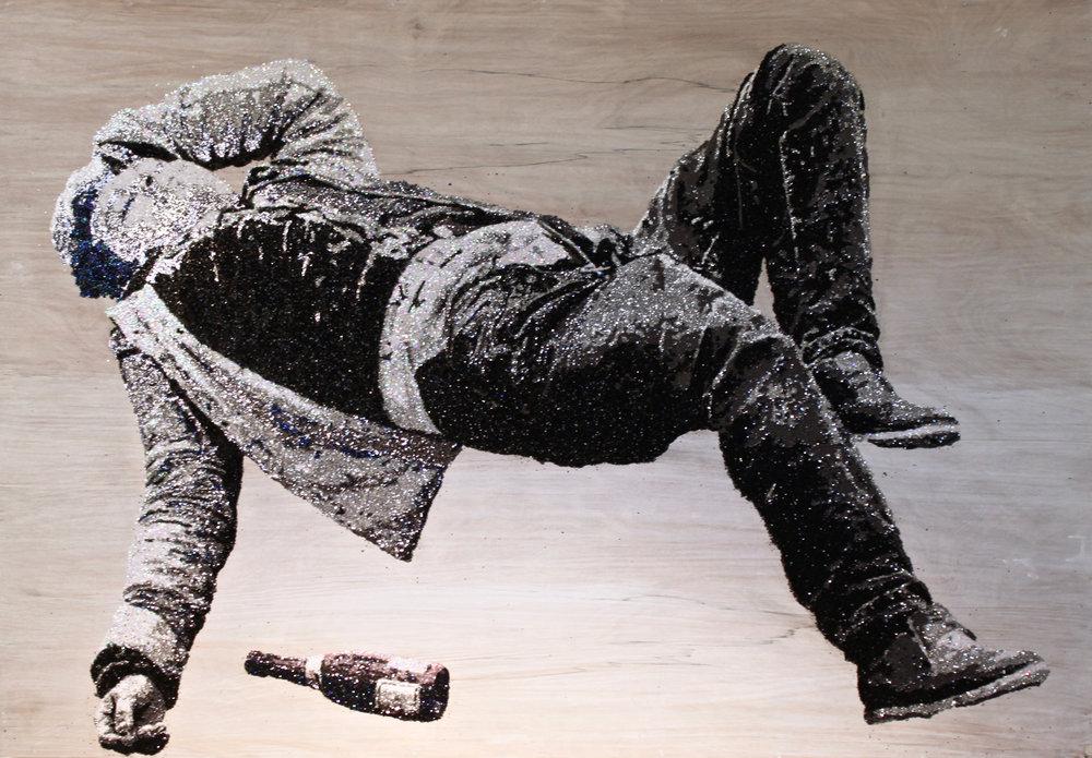 w i n o :: t w o  glitter on plywood  48'' x 33''   CONTACT FOR MORE INFO
